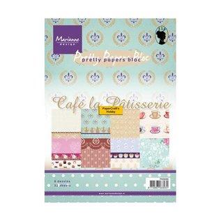 Marianne Design Designer Paper Pad A5, Café la Patisserie van Marianne Design