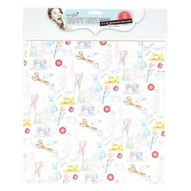 Textil Fabric on paper, self-adhesive