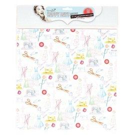 Textil Tela en el papel, autoadhesivo