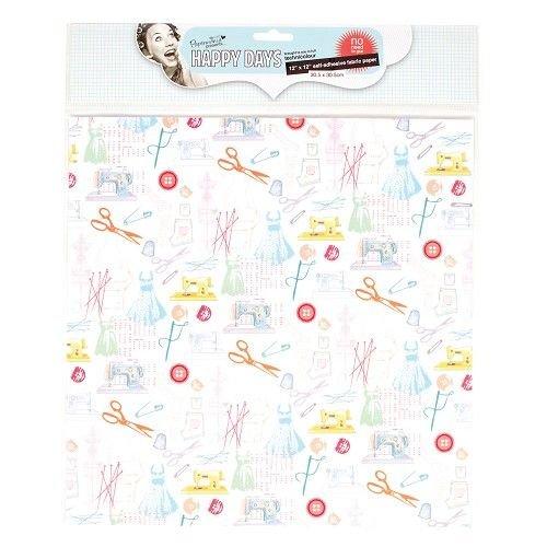 Textil Tissu sur papier, auto-adhésif