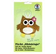 "Kinder Bastelsets / Kids Craft Kits Filt Craft Kit ""heldig charme"" ugle"