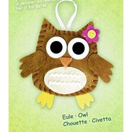 "Kinder Bastelsets / Kids Craft Kits Kit Artisanat Felt ""porte-bonheur"" chouette"