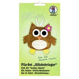 "Kinder Bastelsets / Kids Craft Kits Felt Craft Kit ""lucky charm"" owl"