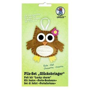 """Kinder Bastelsets / Kids Craft Kits Voelde Craft Kit """"geluksbrenger"""" uil"""