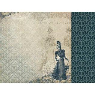 Designer Papier Scrapbooking: 30,5 x 30,5 cm Papier Kreativ-SET Nr.1 : Couture Kollektion + 1 Basis Karte + 1 Spitze Dekoband!