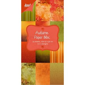 Joy!Crafts / Jeanine´s Art, Hobby Solutions Dies /  Designere blok af Joy Crafts, 15x30cm - Efterår