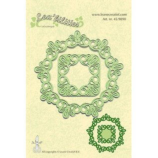 Leane Creatief - Lea'bilities und By Lene Leabilities, stamping - and embossing stencil, frame round lace