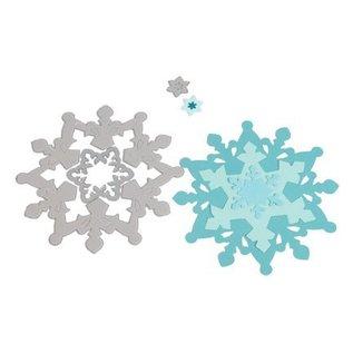 Sizzix Ponsen - en embossing stencil SET, Sizzix Framelits, Sneeuwvlokken