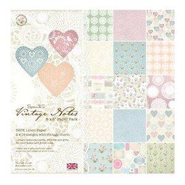 Karten und Scrapbooking Papier, Papier blöcke Paperblock Vintage Notes, 15,2 x 15,2 cm - LETZTE VORRÄTIG!