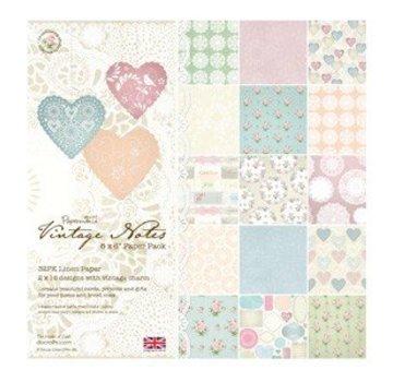 Karten und Scrapbooking Papier, Papier blöcke Vintage Paper Blok Notes, 15,2 x 15,2 cm