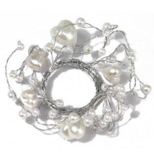 Embellishments / Verzierungen Parel Ring met hartjes ring met een diameter van 3 cm, PVC-doos 1 stuk, wit