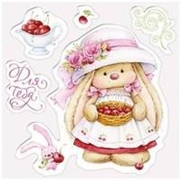 Transparent stamps, Cherry Rabbit