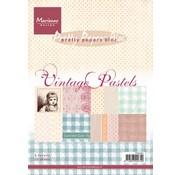 Karten und Scrapbooking Papier, Papier blöcke Pad of paper, A5, Vintage Pastels