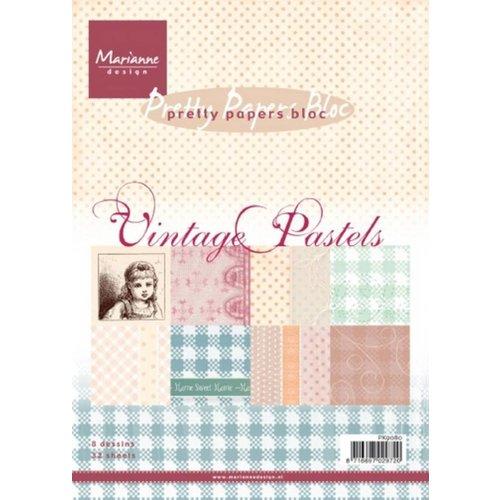 Karten und Scrapbooking Papier, Papier blöcke Bloc de papier, A5, Pastels Vintage