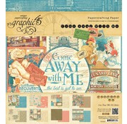 """GRAPHIC 45 Designers block 20 x 20cm, from Graphic 45 """"Come Away With Me"""""""