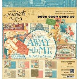 "GRAPHIC 45 Diseñadores bloquean 20 x 20 cm, de Gráfico 45 ""Come Away With Me"""