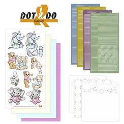 Autocollant Craft Kit: Dot & Do, Baby Animals