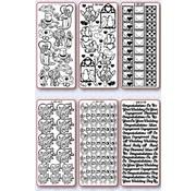 Sticker Stickerset: 6 verschiedene Ziersticker, Thema: Hochzeit, Liebe