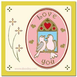 STICKER / AUTOCOLLANT Stickerset: 6 verschillende decoratieve sticker, Topic: huwelijk, liefde