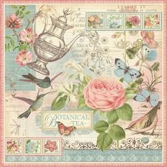 """Designer Paper """"Tea Botanico"""", 30,5 x 30,5 centimetri"""
