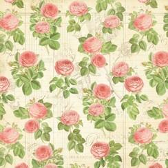 """Designer Paper """"Tea Botanico - Flora"""", 30,5 x 30,5 centimetri"""