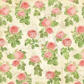 """GRAPHIC 45 Designer papir """"Botanisk Tea - Flora"""", 30,5 x 30,5 cm"""