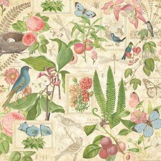 """GRAPHIC 45 Ontwerper Paper """"Botanische Tea - Spring Duet"""", 30,5 x 30,5 cm"""