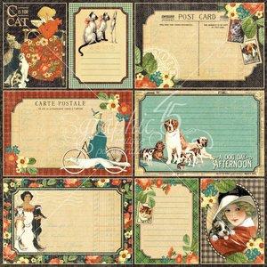 "GRAPHIC 45 Designer Paper ""Raining Cats and Dogs - Four-Legged Friend"", 30.5 x 30.5 cm"