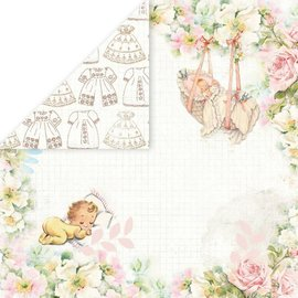 "Designer Papier Scrapbooking: 30,5 x 30,5 cm Papier Designer Paper ""Hello Baby"", 30,5 x 30,5 cm - Copy"