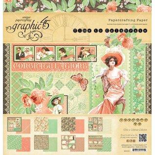 """GRAPHIC 45 Designers Block """"Time to Celebrate"""", 30,5 x 30,5 centimetri"""