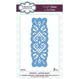 CREATIVE EXPRESSIONS und COUTURE CREATIONS Stamping and embossing stencil, Lattice Heart