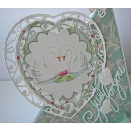 Tonic Studio´s Tonic, stamping and embossing stencil, Indulgence Affections heart punch, 2 template