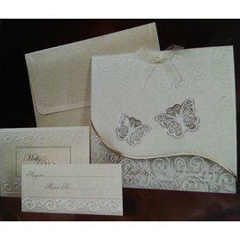 Bastelset: edele und filigräne Schmetterlingskarten