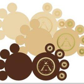 KARTEN und Zubehör / Cards 3 carte zampe DeLuxe, oro laminato, marrone, beige, crema