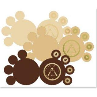 KARTEN und Zubehör / Cards 3 DeLuxe poten kaarten, goud gelamineerd, bruin, beige, crème