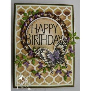 Joy!Crafts / Jeanine´s Art, Hobby Solutions Dies /  Cutting en embossing stencil tak met vlinders