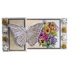 Kit artísticas Tarjetas de felicitación de la mariposa