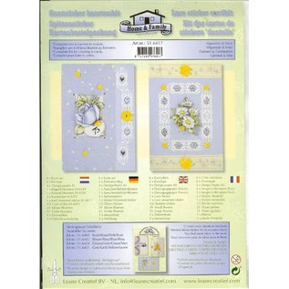 BASTELSETS / CRAFT KITS Card kit with lace and floral motifs Stickers