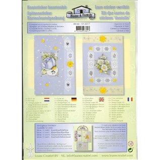 BASTELSETS / CRAFT KITS Kort kit med blonder og blomstermotiver klistremerker