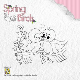 Nellie Snellen Sellos Claro, pájaros de la primavera