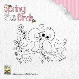 Nellie Snellen Clear stamps, oiseaux au printemps