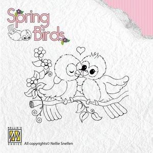 Nellie Snellen Transparent Stempel, Frühling Vögel