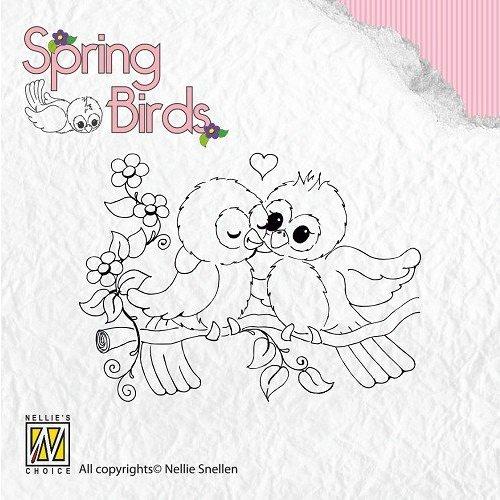 Nellie Snellen Clear stamps, spring birds