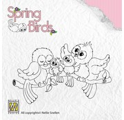 Nellie Snellen Clear stamps, Spring birds Happy Family