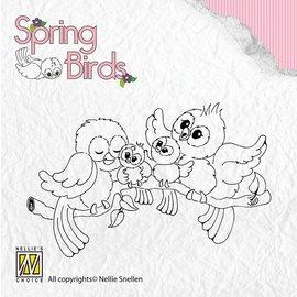 Nellie Snellen Clear stamps, oiseaux Printemps Happy Family