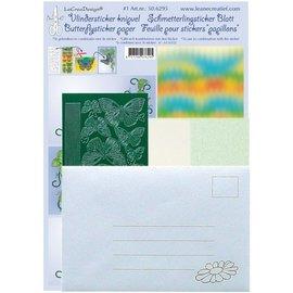 STICKER / AUTOCOLLANT Schmetterling Bastelpackung