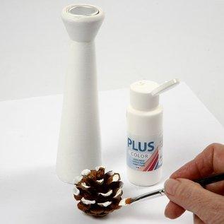 Objekten zum Dekorieren / objects for decorating Kandelaars gemaakt van licht hout met een metalen inzetstuk voor de kaars