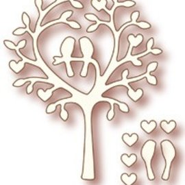 "Wild Rose Studio`s Wild Rose Studio`s estampage et gaufrage pochoir ""Love arbre aux oiseaux"""