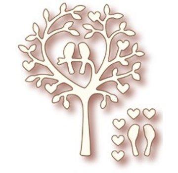 """Wild Rose Studio`s Wild Rose Studio`s Stanz- und Prägeschablone """"Love Bird Tree"""""""