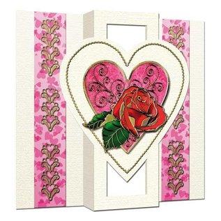 KARTEN und Zubehör / Cards 5 kaarten: Popup kaart met 1 hart, A6, dual-kaart